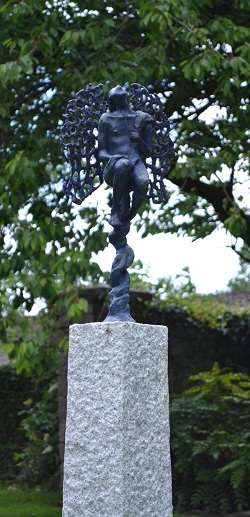 Gallileo's Thoughts. Bronze on Granite .180cm