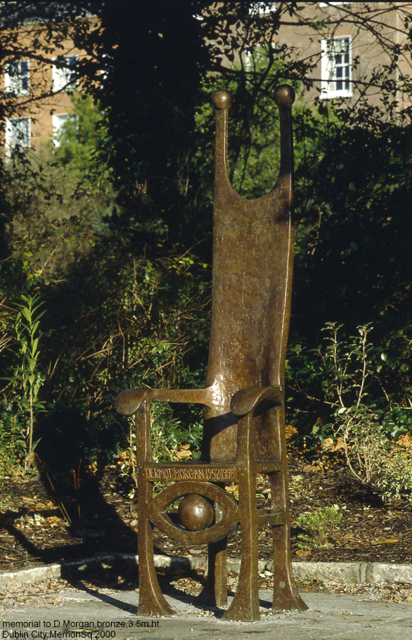 Memorial to Dermot Morgan Merrion Square Dublin.250cm